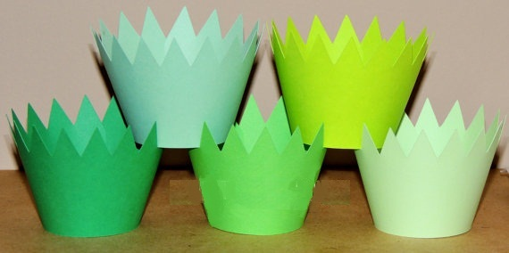 Grass Cupcake Wrappers