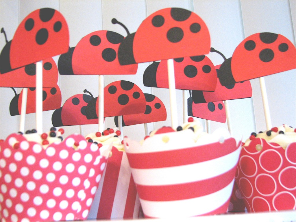 Lady Bird Cake Toppers