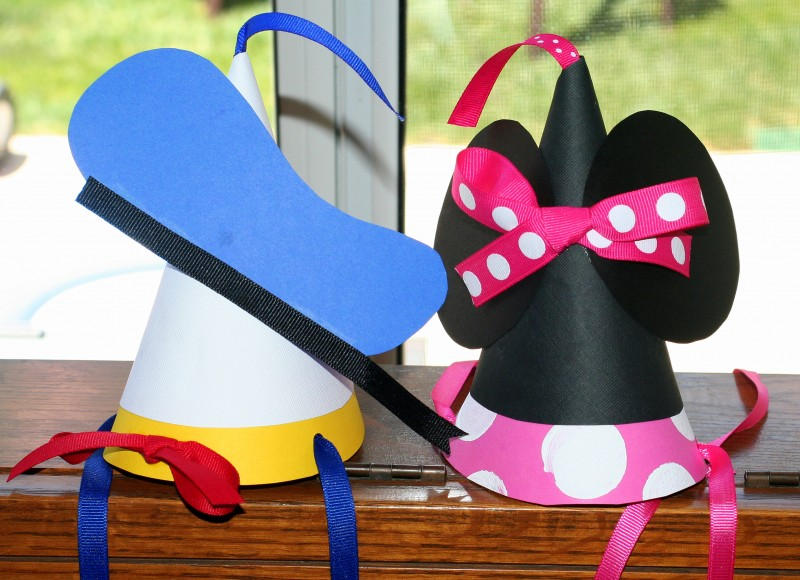 Donald and Mickey Party Hats