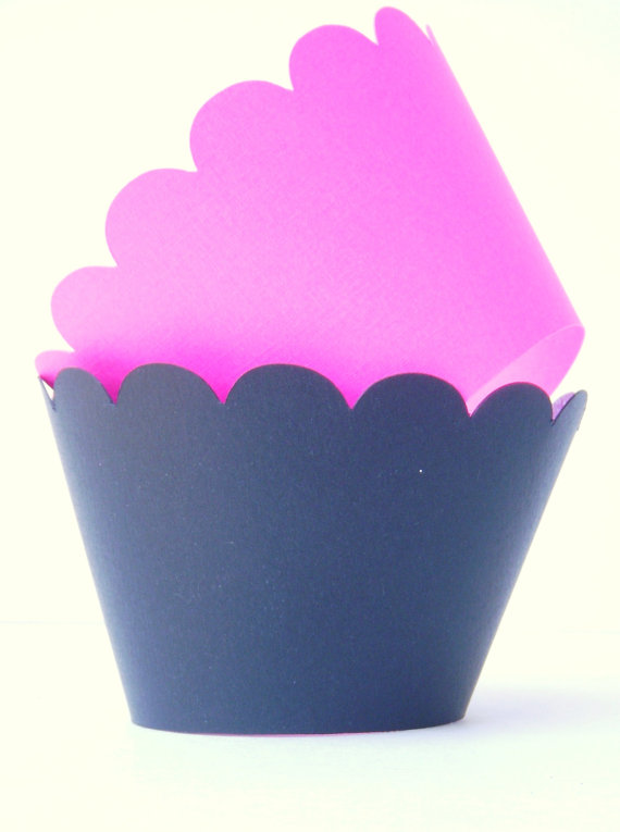 Pink and Purple Cupcake Wrappers