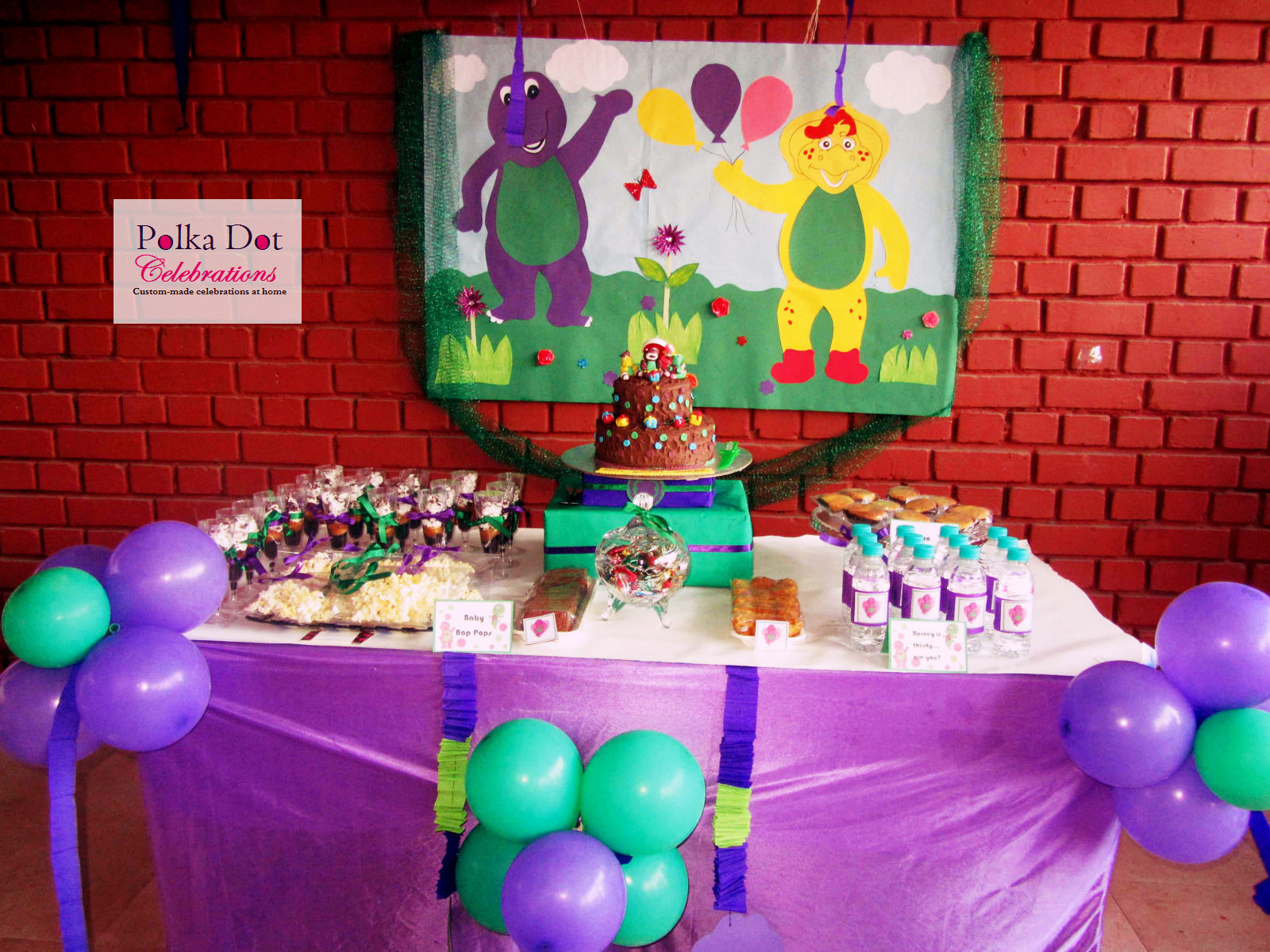 Barney the dinosaur party