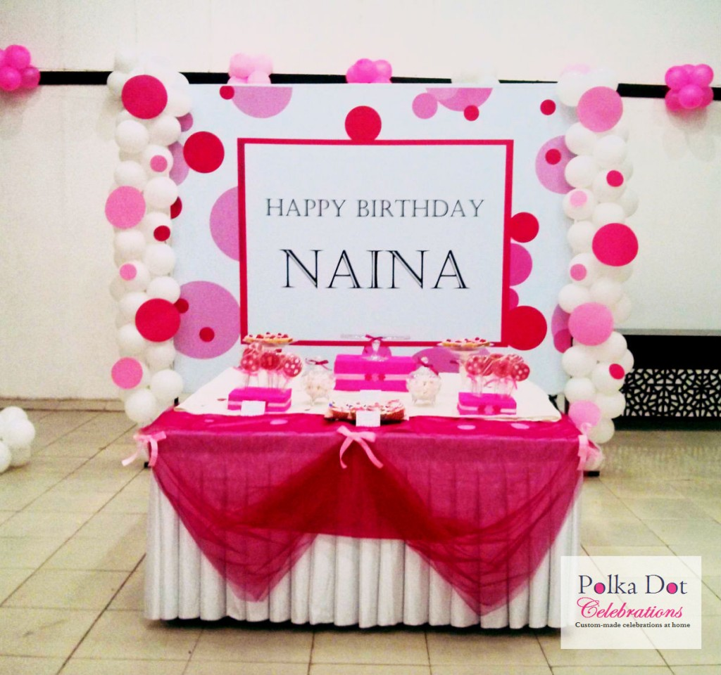 Pink Polka Dot Themed Party