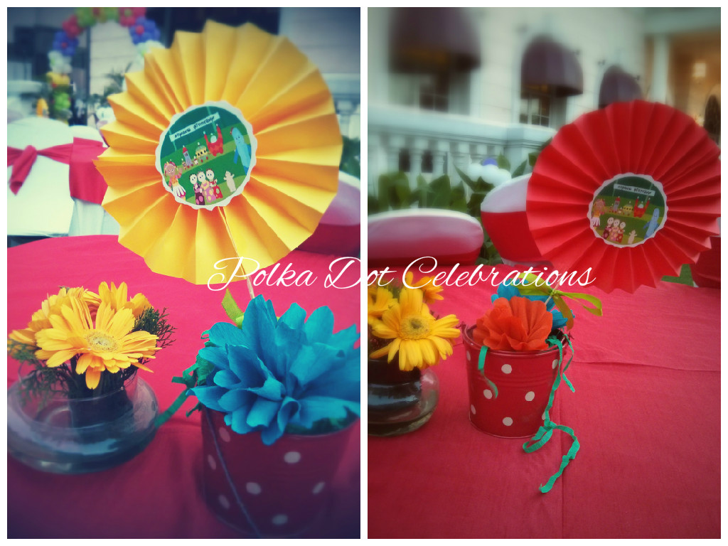 In the night garden centerpieces