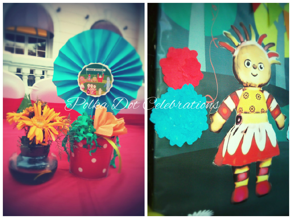 In the night garden theme decoration